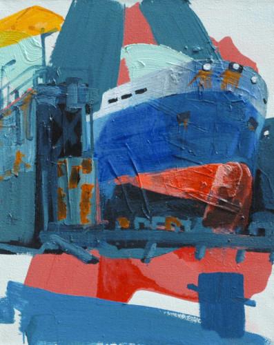 Rotterdam Drydock #2_80 x 65 cm_Acrylicpaint emulsion on Canvas_