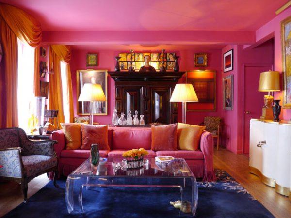 Woonkamer Met Kunst : Een roze woonkamer met kunst u2013 het kan! kunstuitleen rotterdam